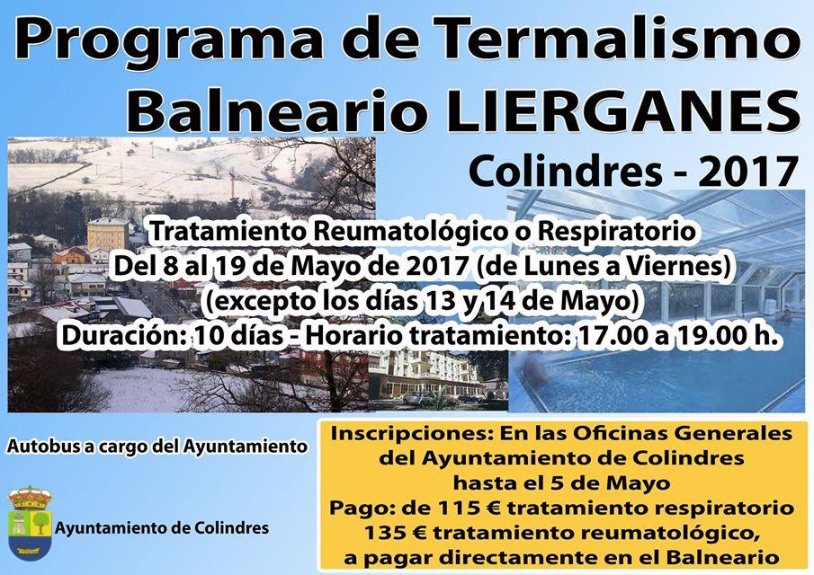 Abierto el plazo de inscripción para el programa de Termalismo 2017 de Colindres