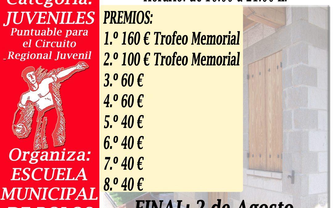 Tiradas clasificatorias XXV Memorial Jesús Ochoa de Categoría Juvenil.