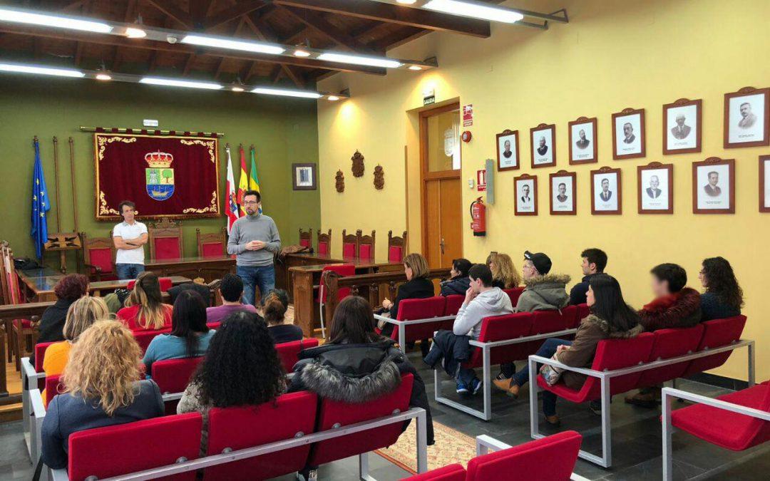 El alcalde de Colindres recibe a los participantes de la III Lanzadera de Empleo