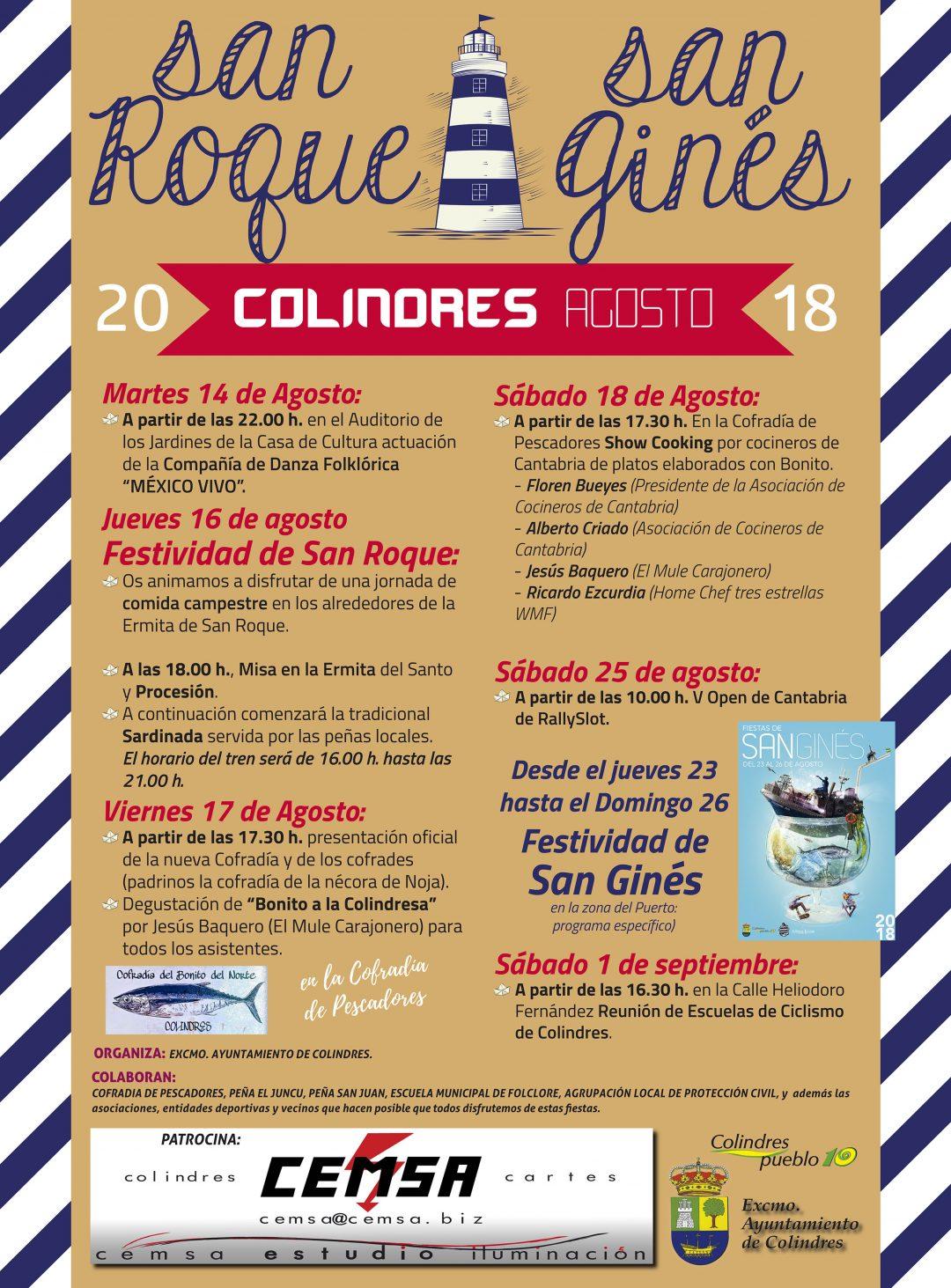 FIESTAS SAN ROQUE Y SAN GINES (programa específico)