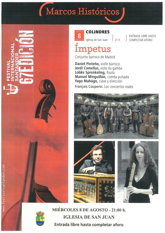 "CONCIERTO DEL GRUPO ""IMPETUS"" – MIERCOLES 8 DE AGOSTO – IGLESIA SAN JUAN"