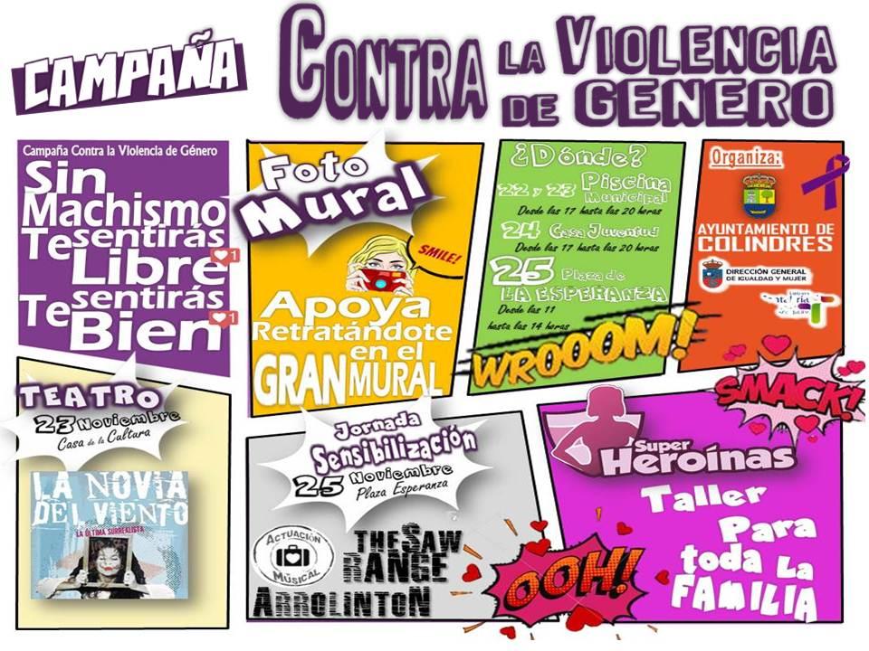 Colindres organiza un mural fotográfico gigante para decir 'no' a la violencia de género