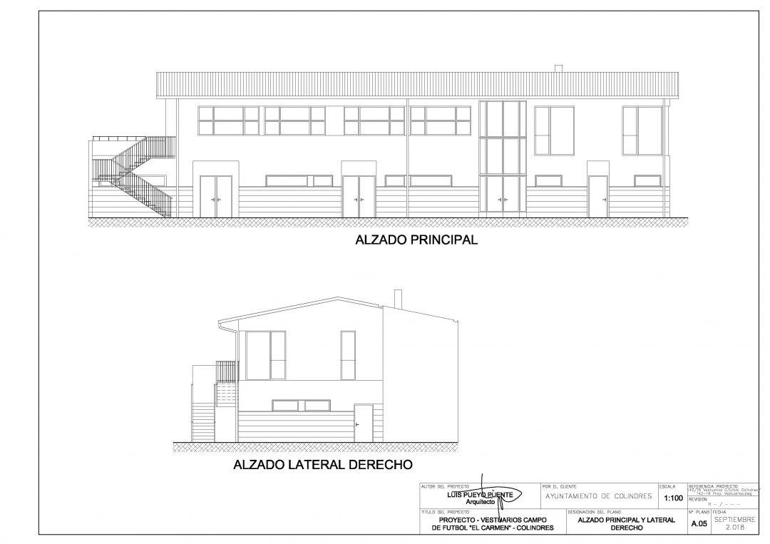 Aprobado el proyecto para construir un nuevo edificio de vestuarios en el estadio de El Carmen