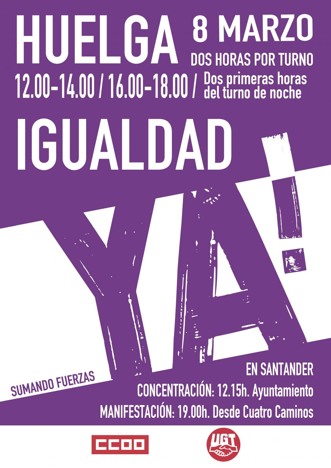 IGUALDAD – HUELGA 8 DE MARZO