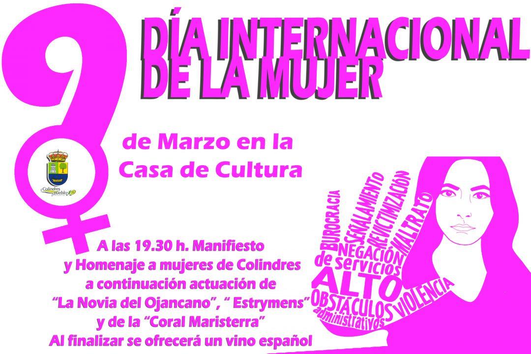 MAÑANA 9 DE MARZO EN EL SALÓN DE ACTOS DE LA CASA DE CULTURA – a partir de las 19.30 h.