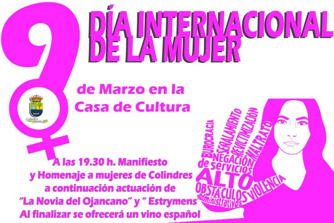 DÍA INTERNACIONAL DE LA MUJER – 9 DE MARZO EN LA CASA DE CULTURA