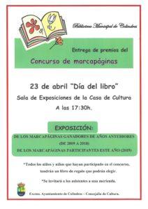 ENTREGA DE PREMIOS CONCURSO MARCAPÁGINAS @ Sala de exposiciones Casa de Cultura