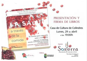 """PRESENTACIÓN DEL LIBRO """"LA SALUD A TRAVÉS DE LA COMIDA"""" @ Sala de exposiciones, Casa de Cultura Colindres"""