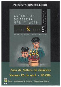 """PRESENTACIÓN DEL LIBRO """"ANÉCDOTAS DE TIERRA, MAR Y AIRE"""" @ Sala de Exposiciones, Casa de Cultura Colindres"""