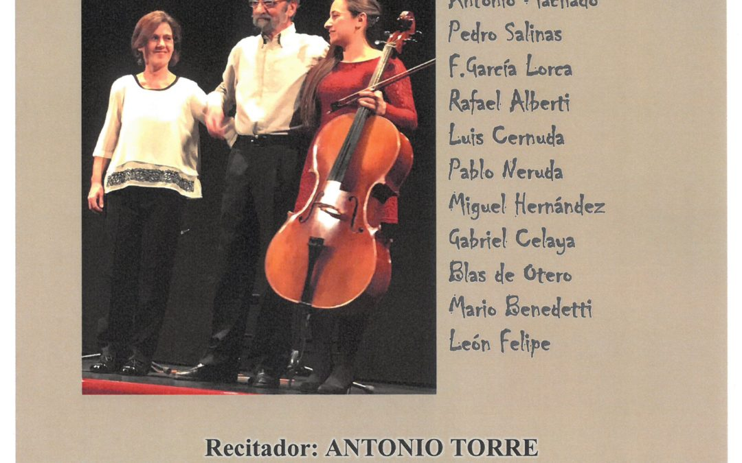 cartel recital poético musical abril 2019
