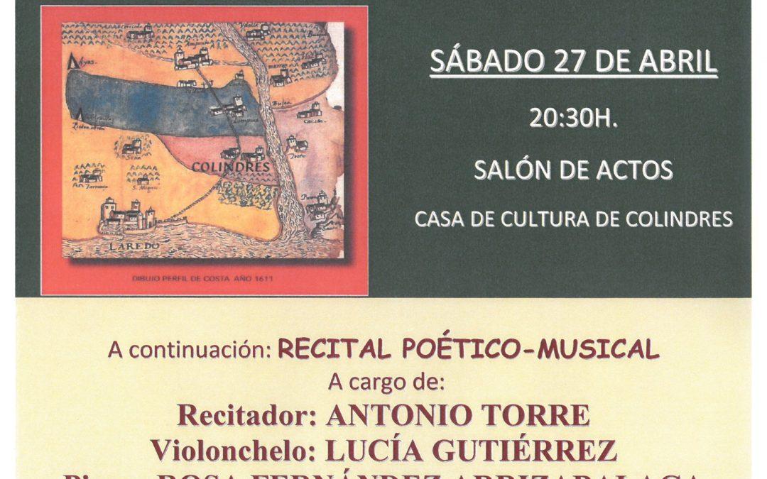 XXI CERTAMEN LITERARIO VILLA DE COLINDRES – ENTREGA DE PREMIOS Y PRESENTACIÓN DE LIBRO