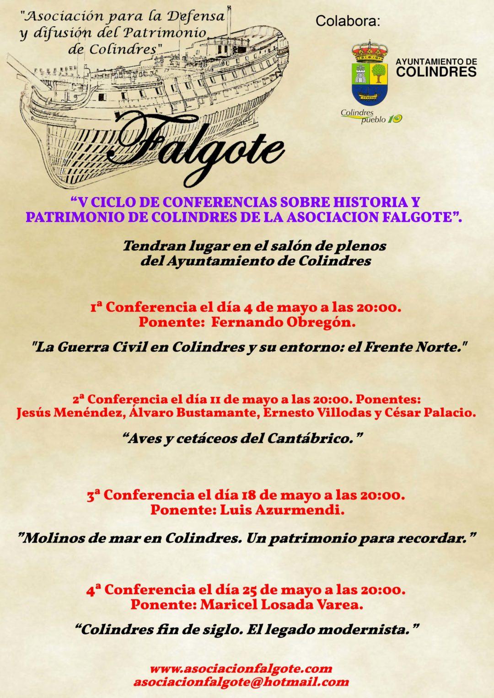 V CICLO DE CONFERENCIAS SOBRE HISTORIA Y PATRIMONIO DE COLINDRES DE LA ASOCIACIÓN FALGOTE