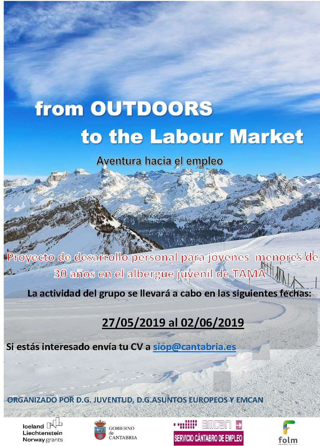 from OUTDOORS to the Labour Market – Aventura hacia el empleo