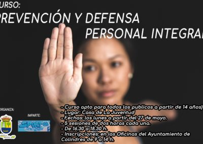 CURSO: PREVENCIÓN Y DEFENSA PERSONAL INTEGRAL