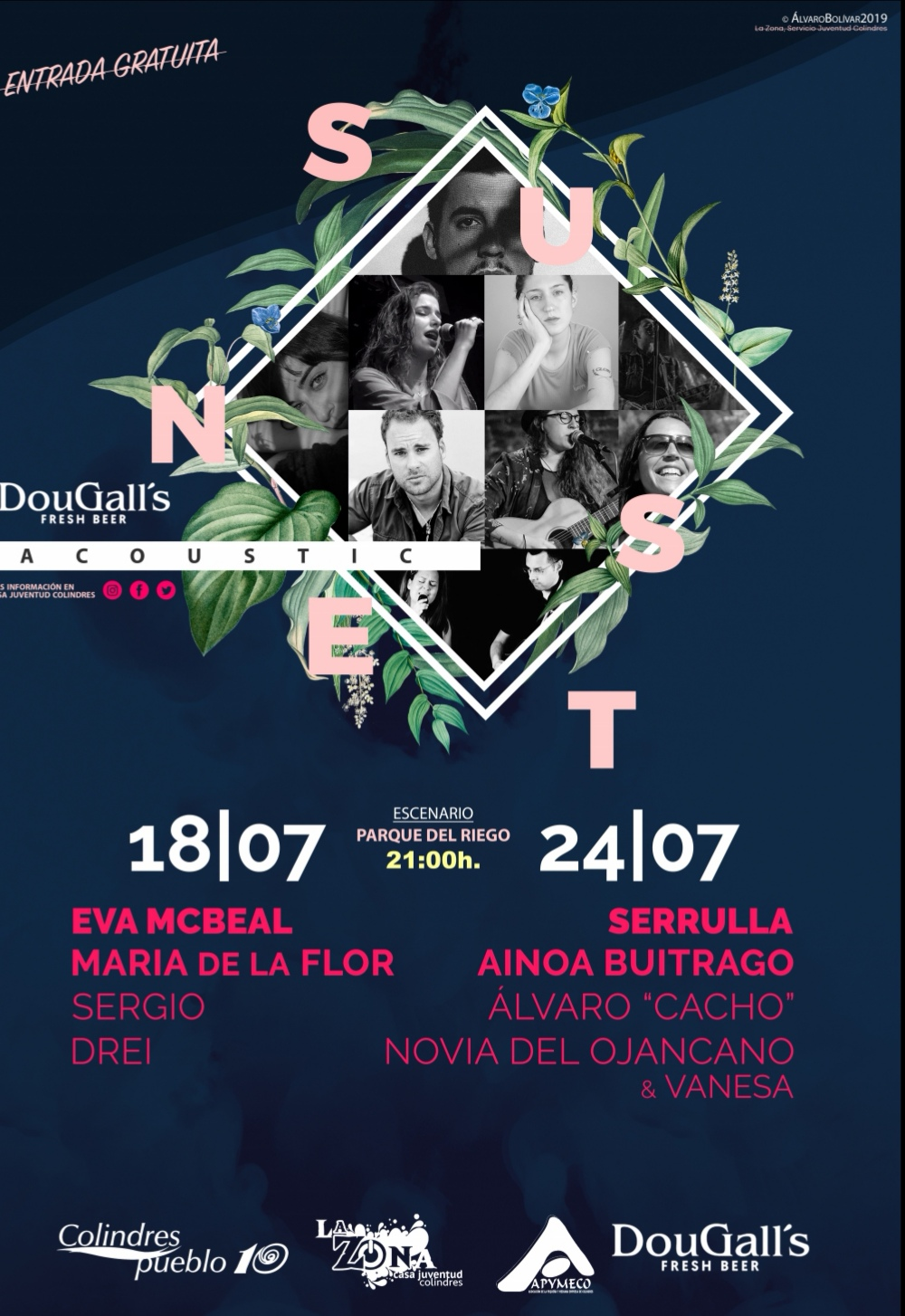 SUNSET  ACOUSTIC 2019 – 18 DE JULIO DE 2019 A LAS 21.00 H.