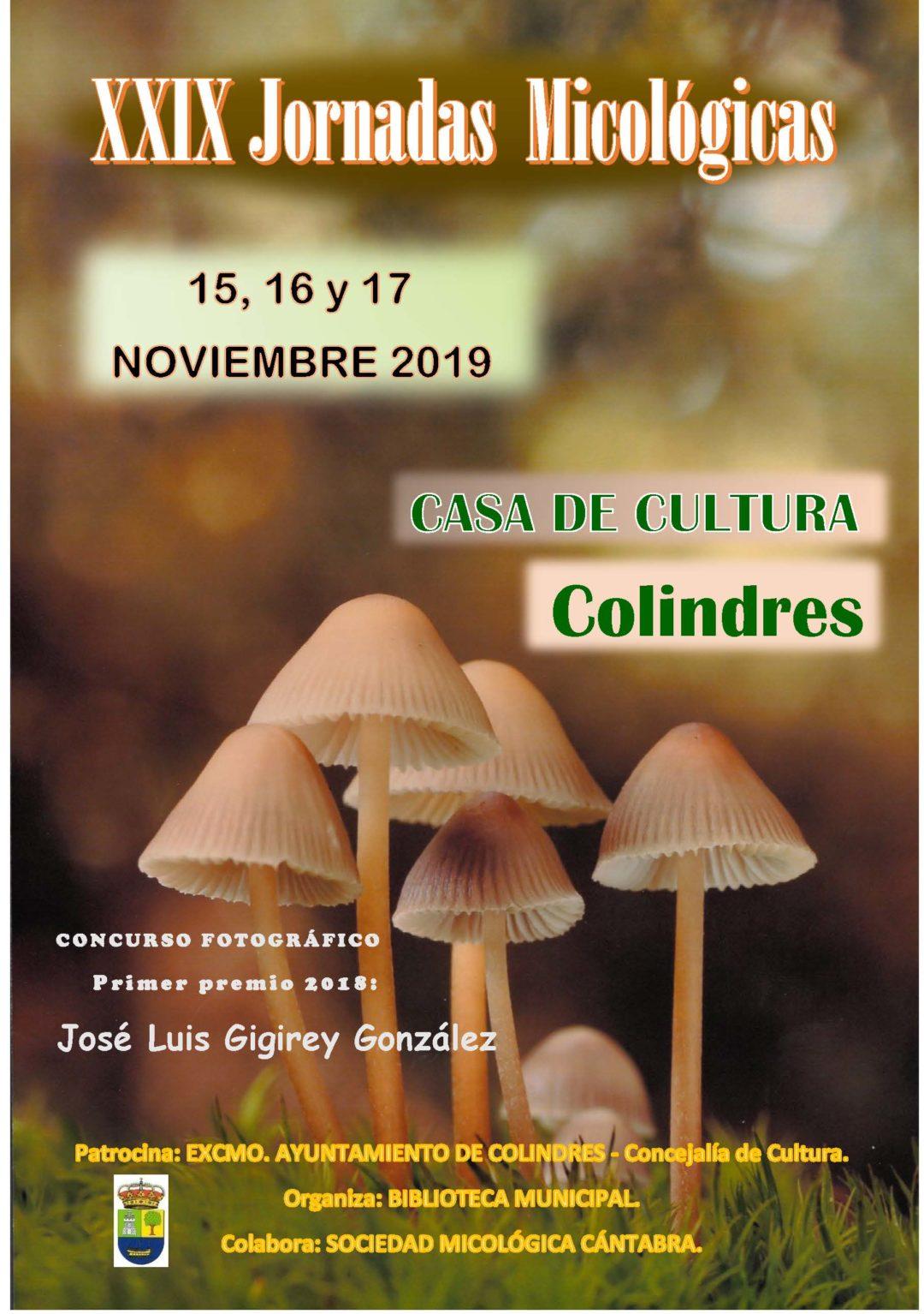 XXIX JORNADAS MICOLÓGICAS, 15, 16 y 17 de Noviembre de 2019