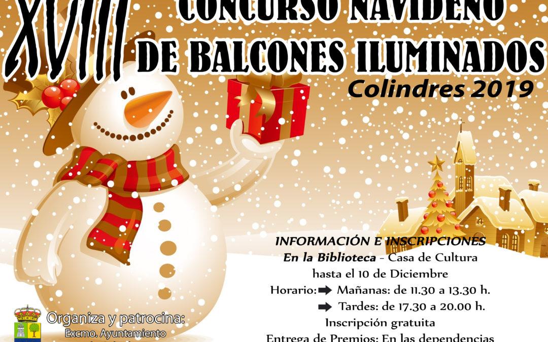 XVIII CONCURSO NAVIDEÑO DE BALCONES ILUMINADOS 2019
