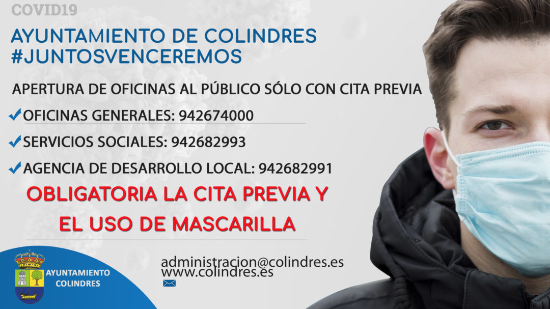 APERTURA AL PÚBLICO CON CITA PREVIA DE DEPENDENCIAS MUNICIPALES