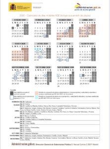 Calendario plazos términos