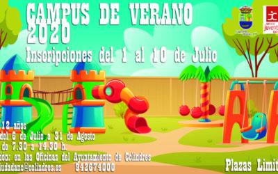 CAMPUS DE VERANO 2020 – Abierto el plazo de inscripción a partir del 1 de Julio