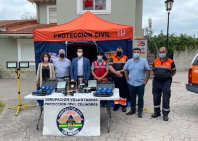 COLINDRES AMPLÍA LA DOTACIÓN DE MATERIAL A PROTECCIÓN CIVIL